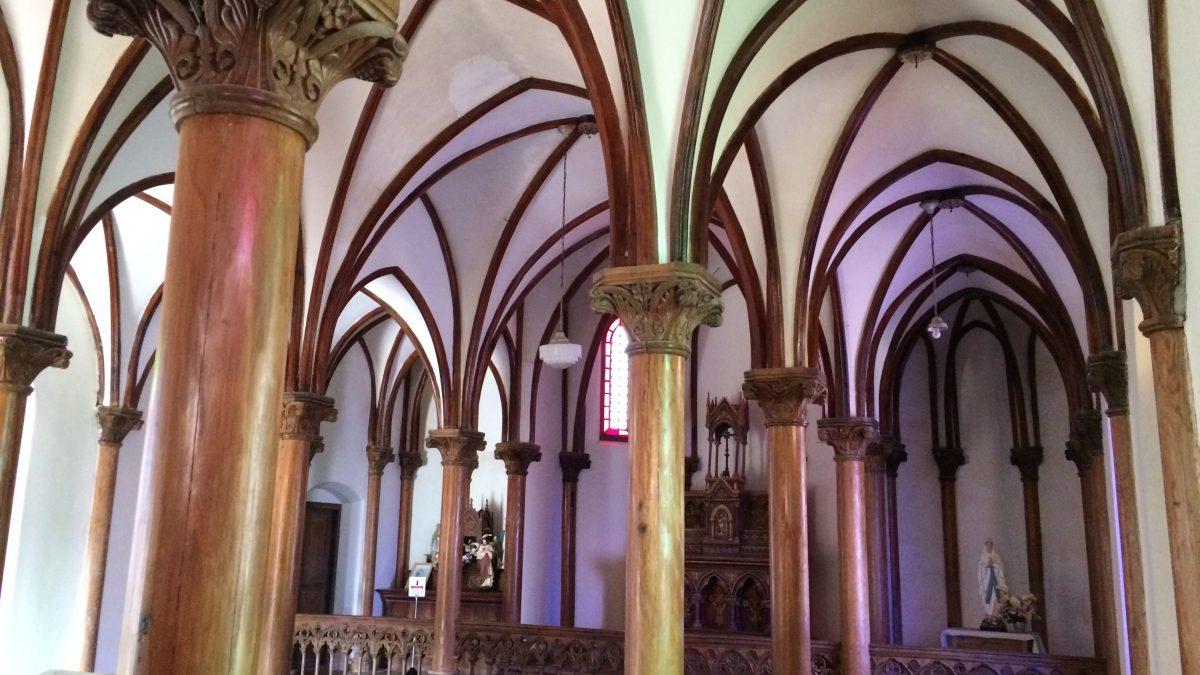 旧野首教会 リブヴォールト