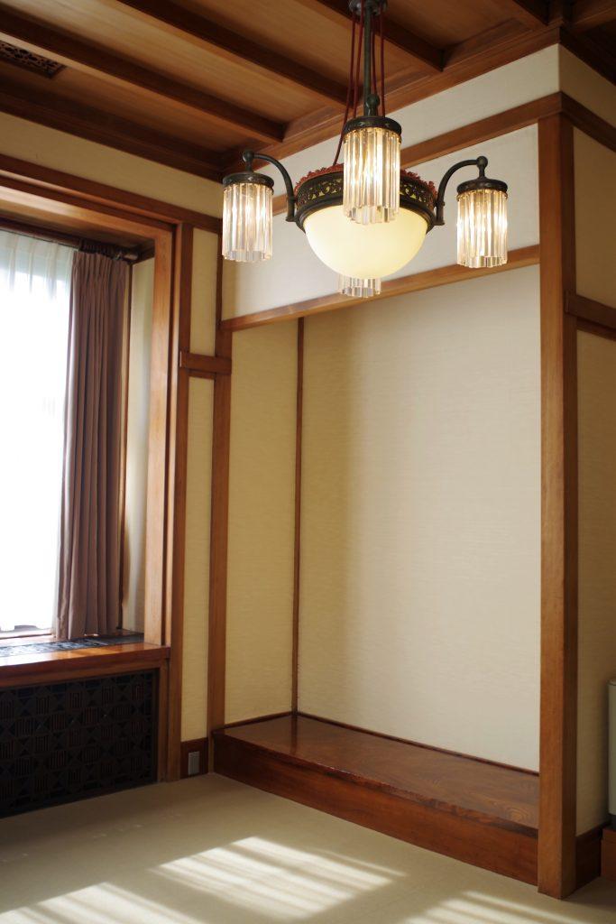 和風の小食堂。床の間があります