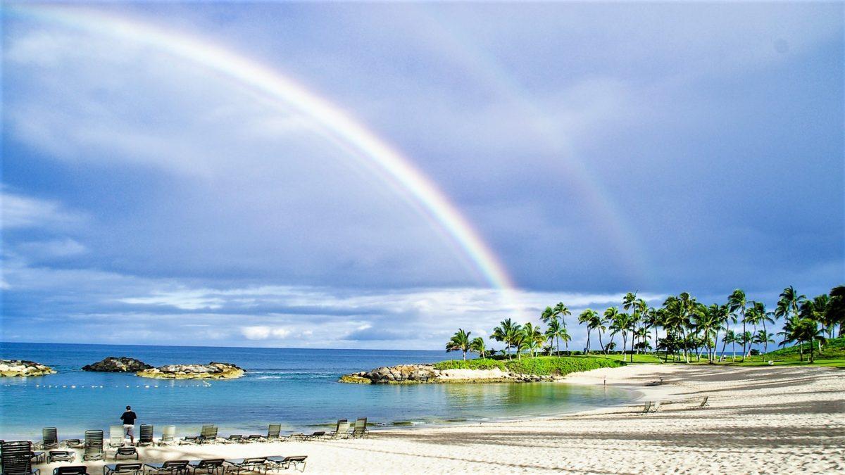 虹 ハワイ 虹の彼方に Over the Rainbow