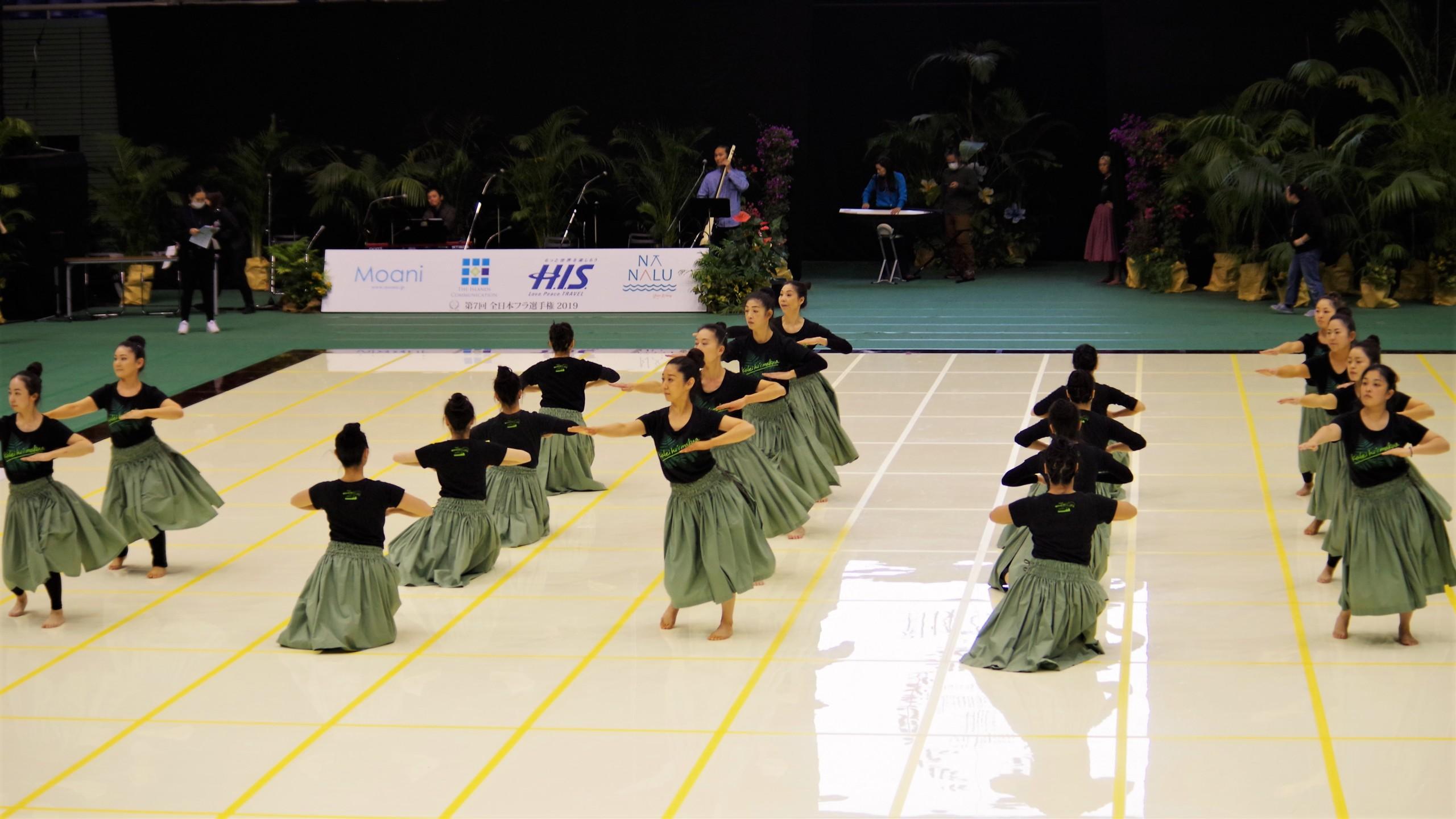 フラダンス教室~カレイヒイマクア~全日本フラ選手権団体カヒコリハーサル
