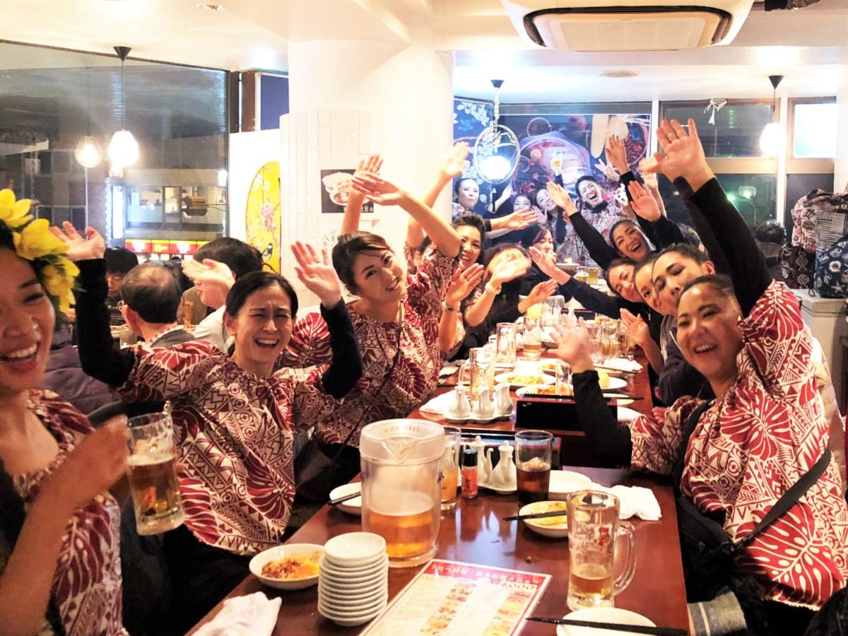 フラダンス教室~カレイヒイマクア~全日本フラ選手権反省会の風景