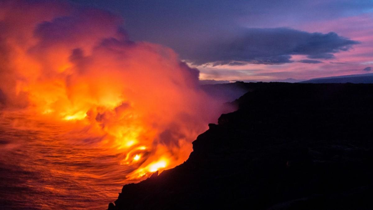 キラウエア ハワイ ハワイ島 赤